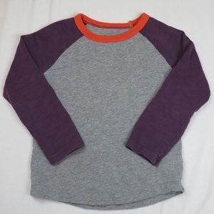 Mini Boden 3T 4T 4 Raglan Long Sleeve T-Shirt